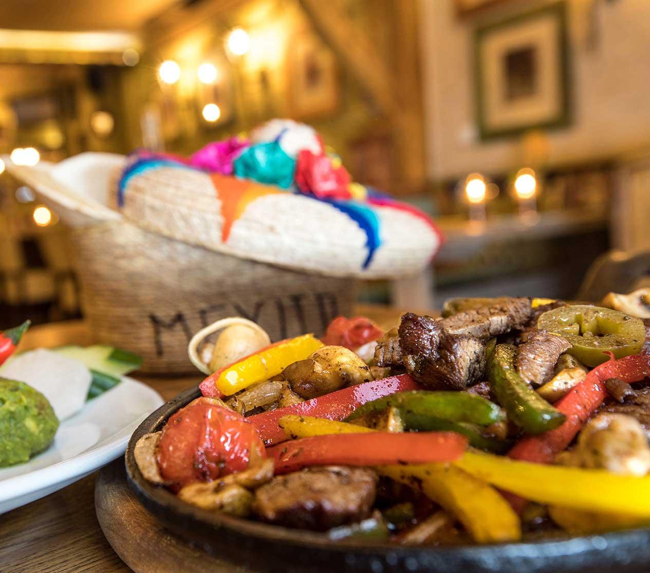 Feine mexikansiche Speisen